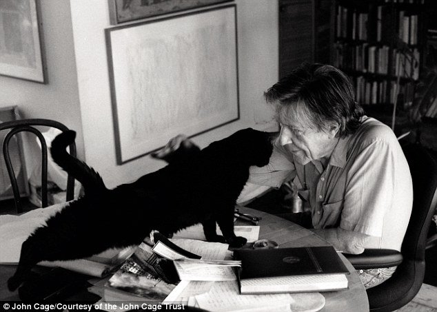 It's #BlackCatDay - here's John Cage with one of his beloved black cats (check out @alistasi's brilliant #ArtistsandTheirCats for more...) <br>http://pic.twitter.com/dzzVzCl5cf