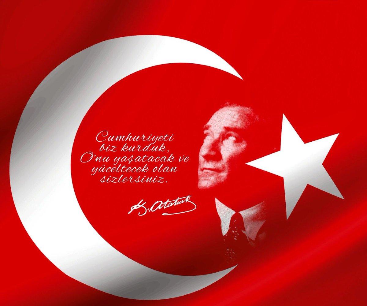 Cumhuriyeti ,  Biz Kurduk Onu Yaşatacak ve Yüceltecek Olan ,  Sizlersiniz !!..  /G.M.Kemal ATATÜRK/  Cumhuriyetimizin 94 yılı Kutlu Olsun...🇹🇷🇹🇷🇹🇷   #BizOnuÇokSeviyoruz