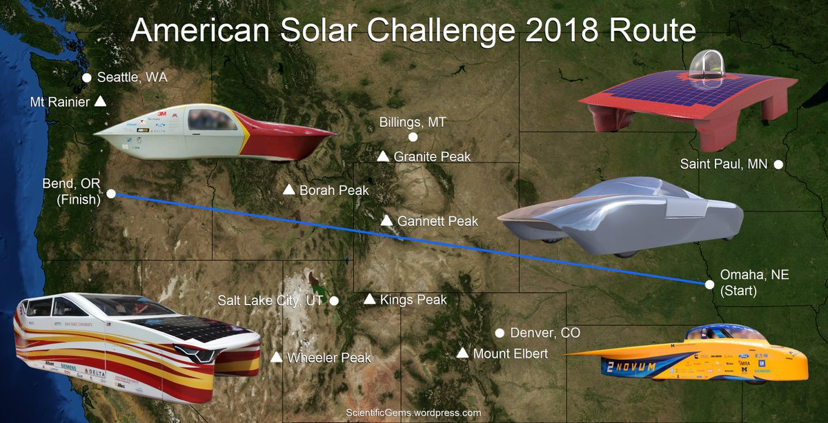 Scientific Gems On Twitter Looking Forward To The Asc2018 Asc Solarracing American Solar Challenge Next July See My Annotated Teams List At