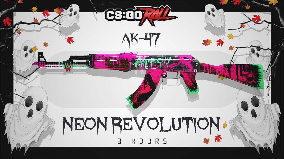 csgoroll on twitter ak 47 neon revolution mw giveaway