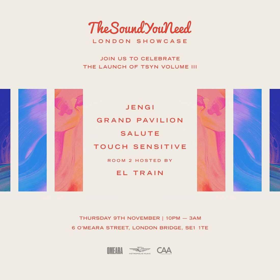 The full line-up for our London Showcase has landed! 🙌🏻 @iTouchSensitive, @saluteAUT + more! 🔊  Free guest list 👉🏼 https://t.co/Af1dVohZZq https://t.co/mL5UohHdrv