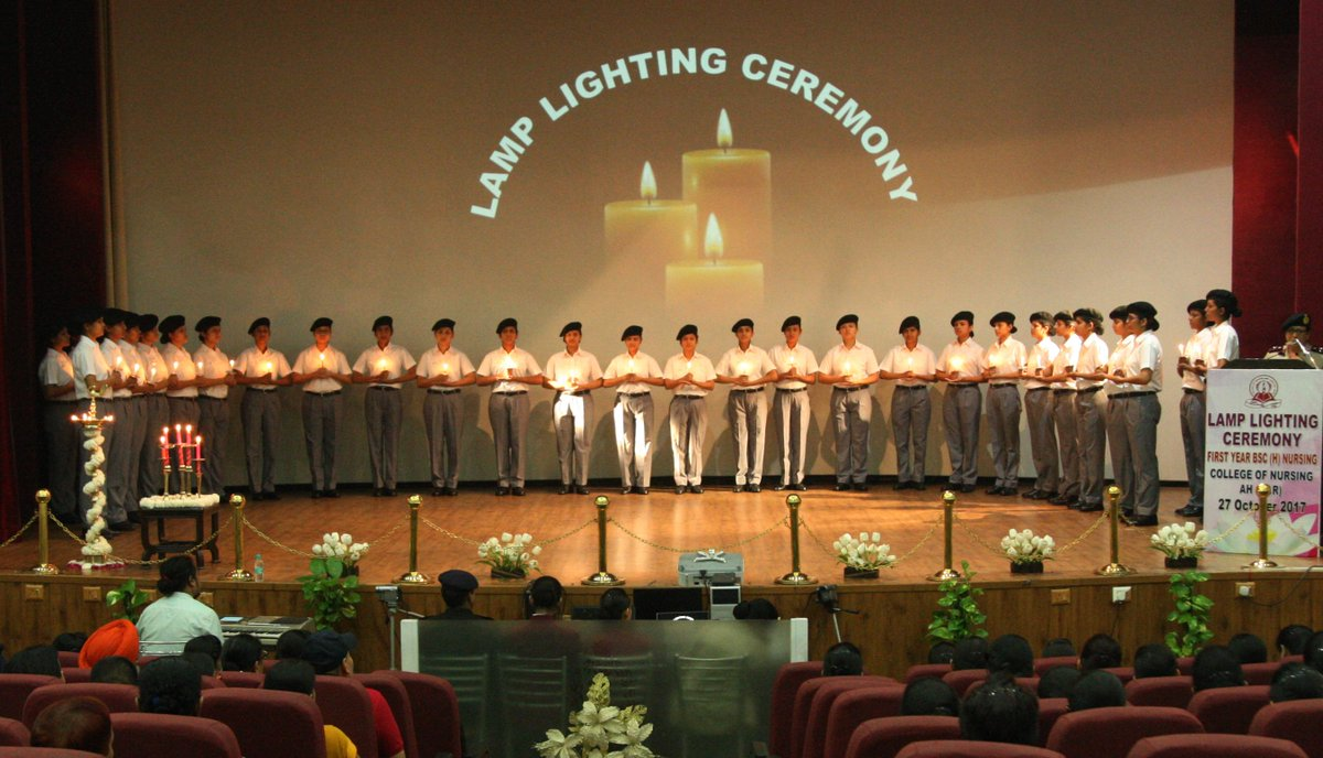 """DPR on Twitter: """"Newly inducted nurse cadets at Lamp Lighting ... for Lamp Lighting Ceremony  45gtk"""