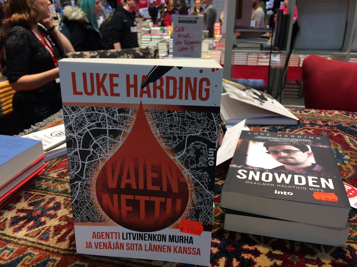 Great to be back at #Helsinki book fair. New Finnish edition of my #Litvinenko book with new title - 'Silenced'