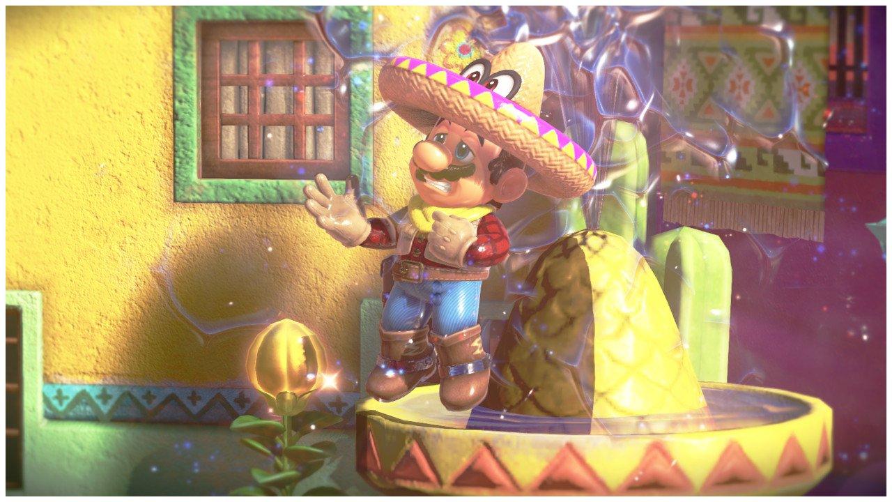 Mario on Fountain