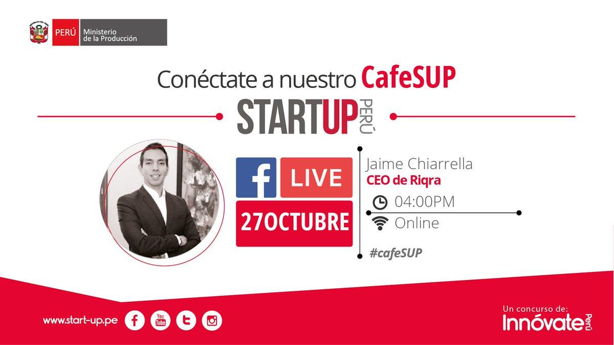 @JaimeChiarella CEO de @riqracom estará con nosotros en un interesante #CafeSUP. Conéctate a https://t.co/Y4yj722DER desde las 4:00 pm. https://t.co/1eJUc7mw7u