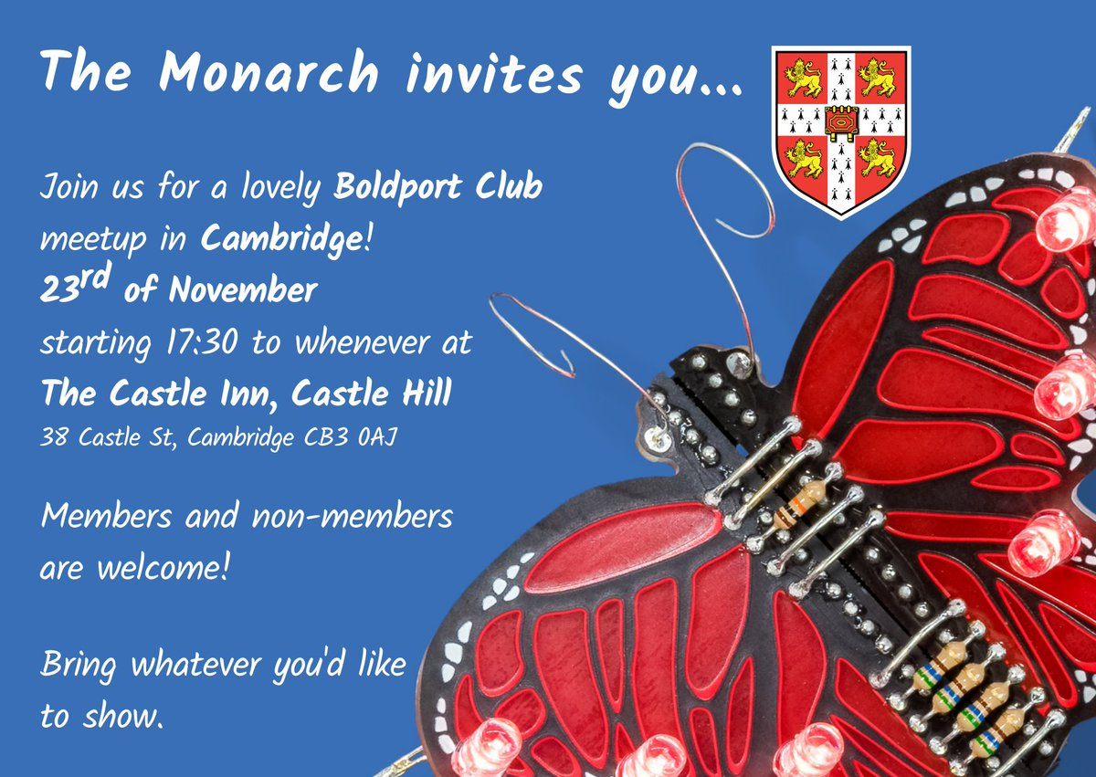 Wooo! Cambridge #BoldportClub meetup in November!