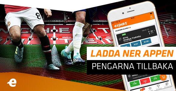 Ladda ner Expekts NYA iPhone-app, placera ett spel innan avspark på Man Utd - Tottenham så får du pengarna tillbaka på ditt första live-spel! ANMÄL DIG HÄR https://t.co/JHeORrS92l https://t.co/qxWRoFYeh0