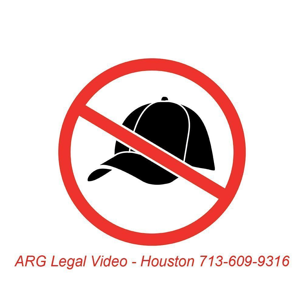 Attorneys: Just a suggestion, Ask your deponents to take off their hats when being recorded on video. ARG Legal Video Houston.  #txlegal <br>http://pic.twitter.com/T5GjklKLh7