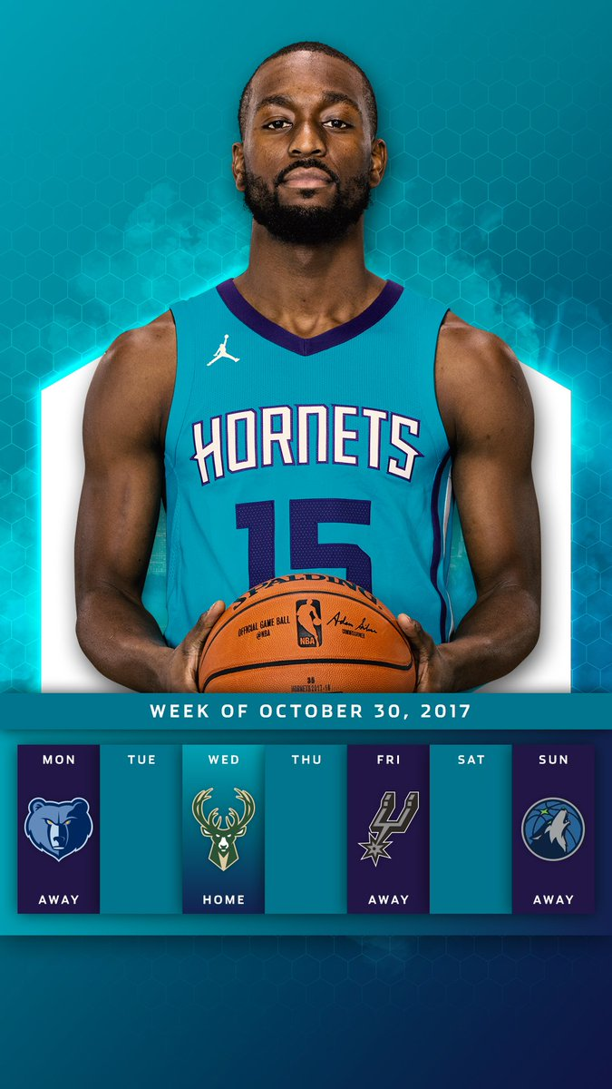 Charlotte Hornets On Twitter Introducing Our Weekly Wallpaper Stay Top Of All Games This Week And Add To Your Phones Background