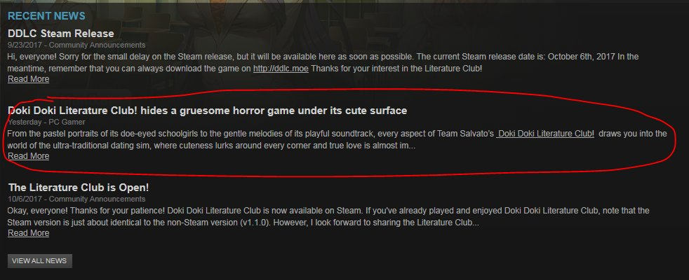 doki doki literature club download steam