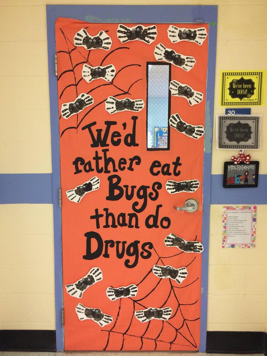 Milford Elementary On Twitter Kindergarten Red Ribbon Week Door