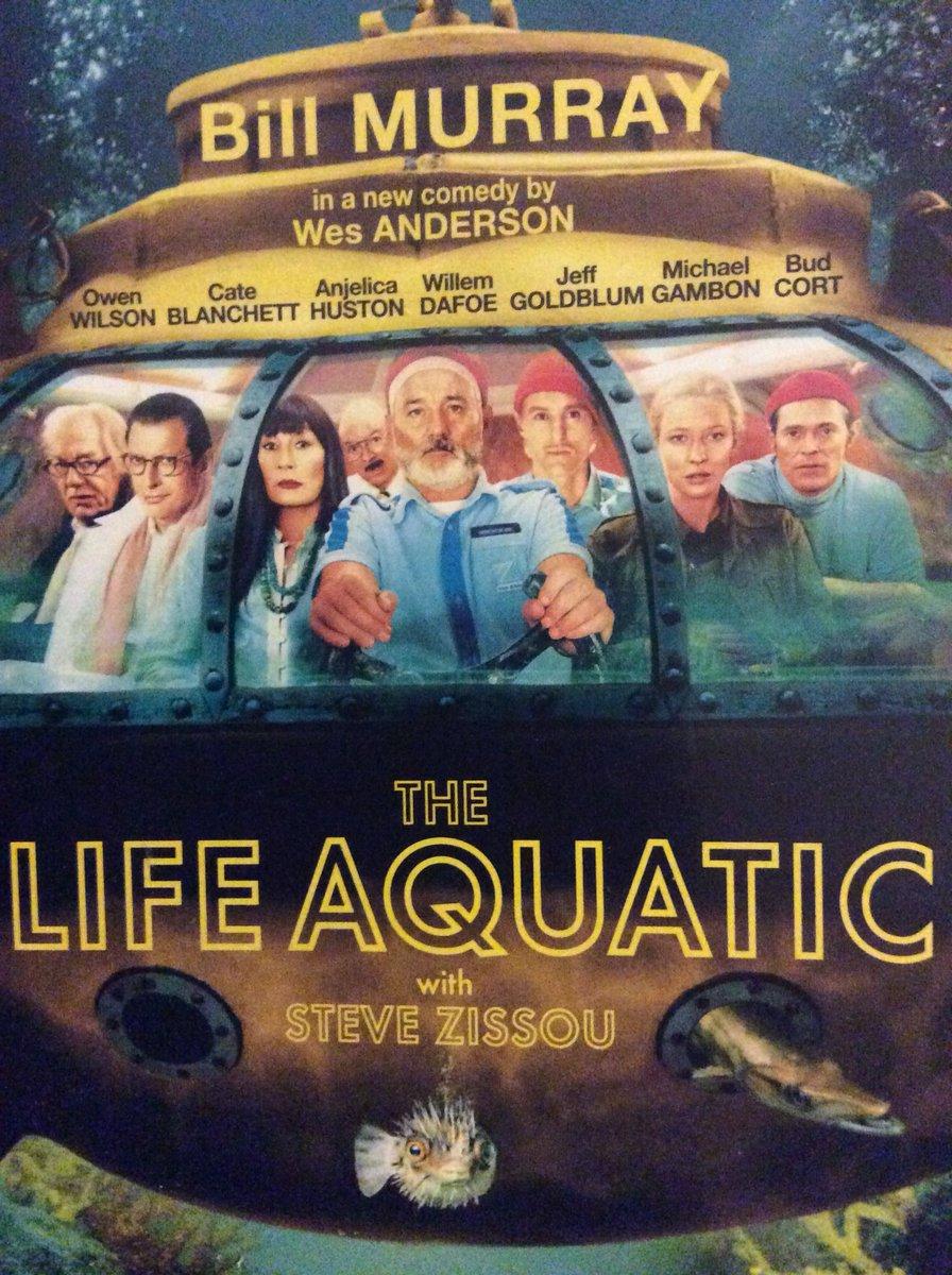 Watching, The Life Aquatic - Amazing Movie &amp; Cast Inc. #BillMurray #OwenWilson @anjelicahuston #JeffGoldblum #CateBlanchett #MichaelGambon  <br>http://pic.twitter.com/x56jyuTNHg