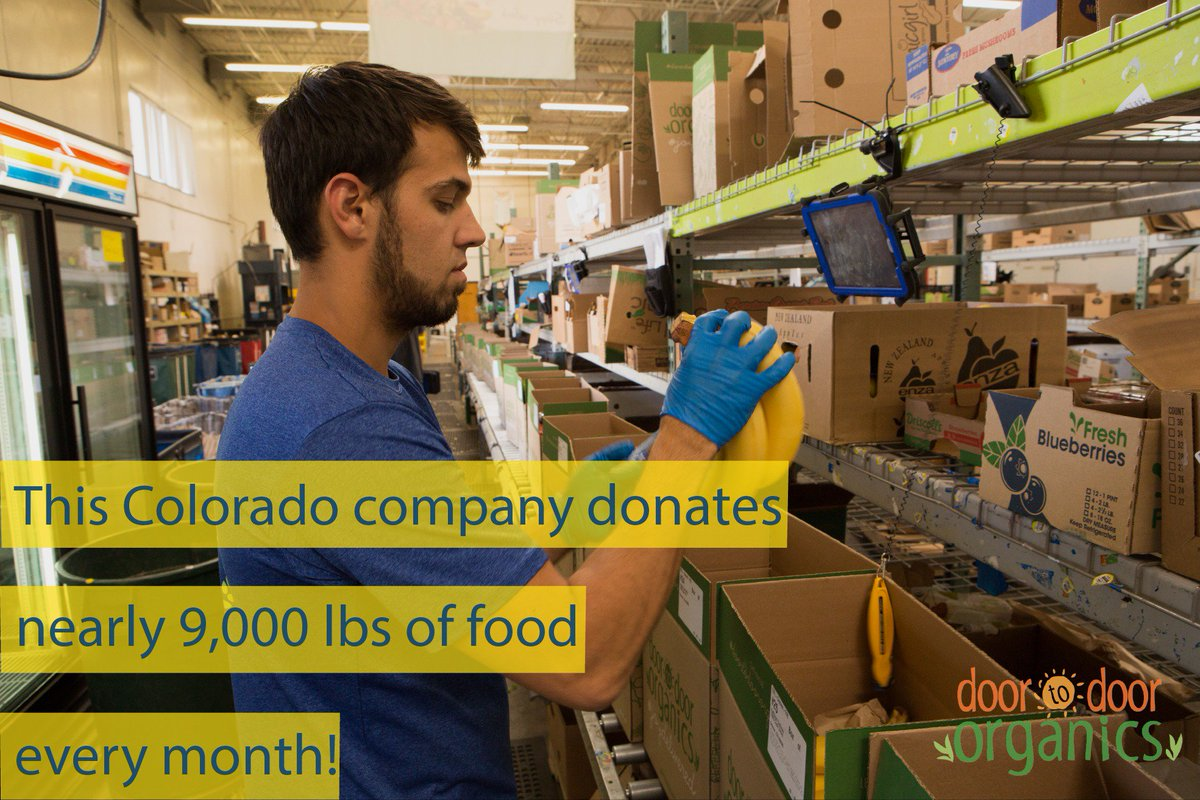 Best for Colorado participant @dtdOrganics donates nearly 9,000 pounds of food to communities in need every month. https://t.co/v82wYI0PNn