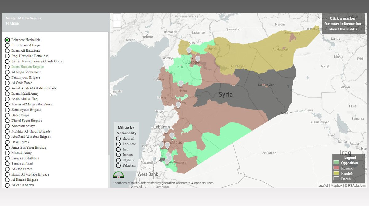 FSA News On Twitter Syria ForeignFighters Interactive Map - Syria interactive map