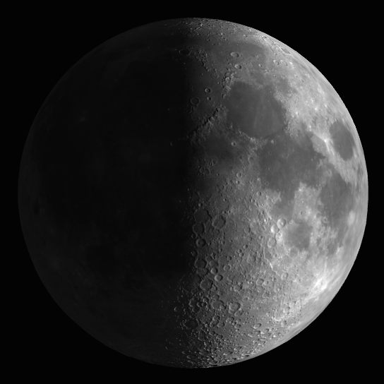 Cuarto Creciente : Luna alcanzado fase Cuarto Creciente UTC ...