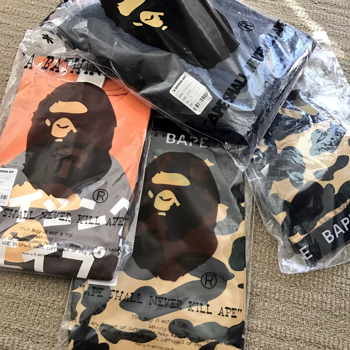 d584bd66dc8 new clothes for tour thanks to bape family for always looking out for me bape  bathingape