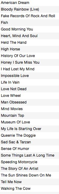 Here's the Daniel Johnston songs we're learning
