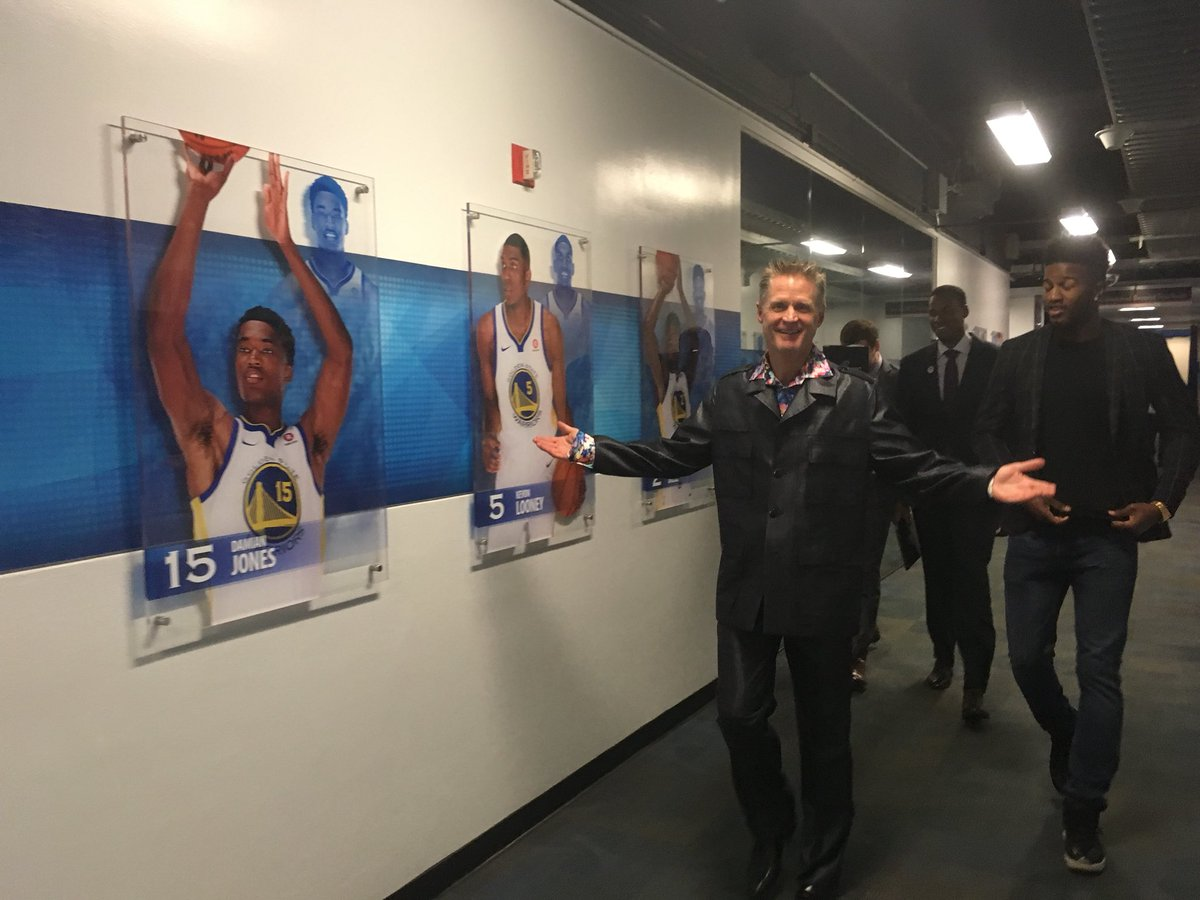 "Janie McCauley on Twitter ""There he is Steve Kerr making his"