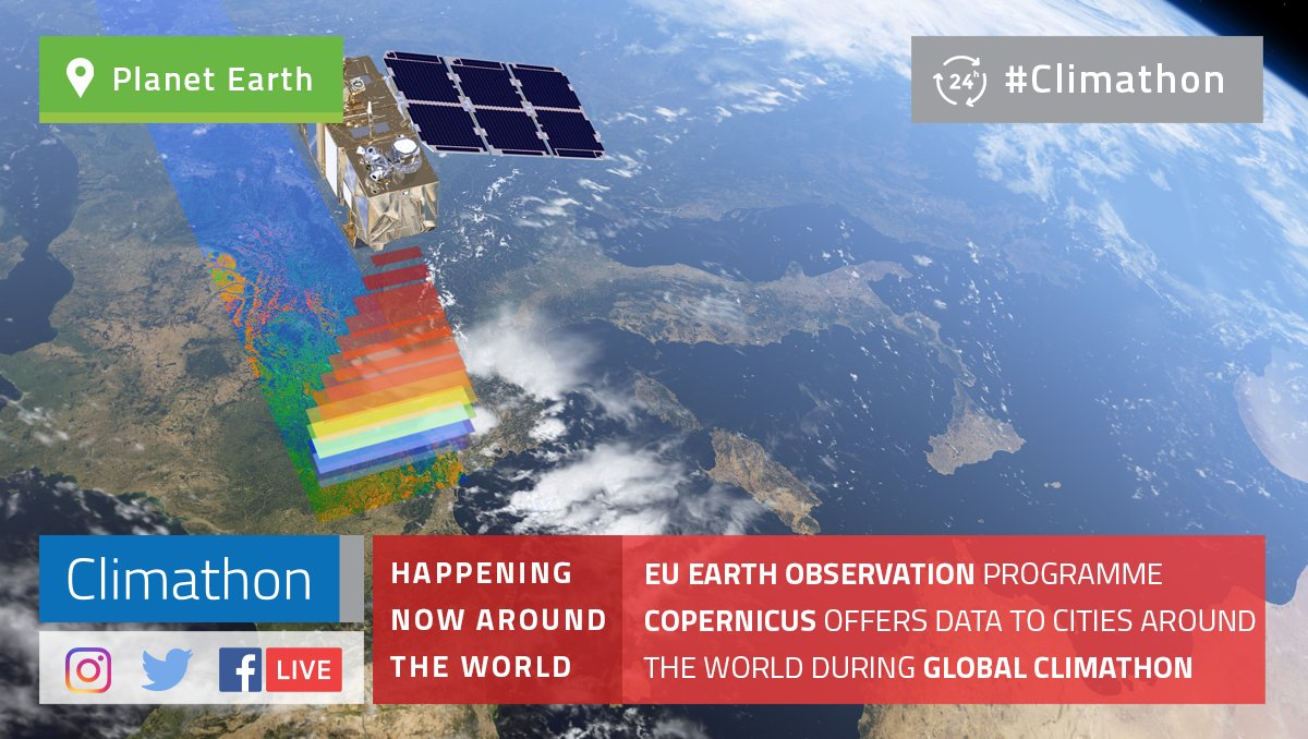 #dyk Participants of #Climathon are creating their solutions with the help of #spacedata provided by @CopernicusEU   http:// bit.ly/2yNU2JF  &nbsp;  <br>http://pic.twitter.com/bMLGVrdhKd