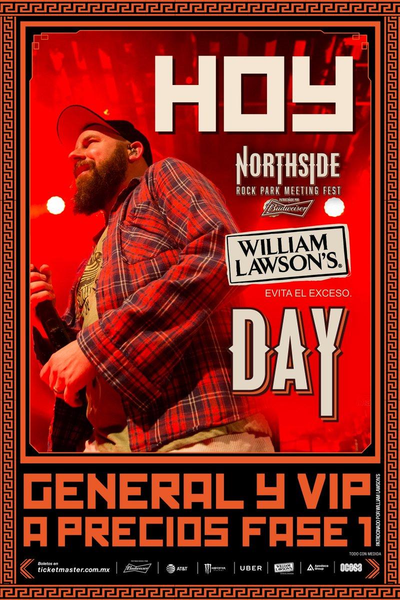 Gracias a @WilliamLawsonsM boletos 🎫 general y VIP en venta a precio especial fase 1 hoy en la taquilla del festival. https://t.co/GGYugBXSG4