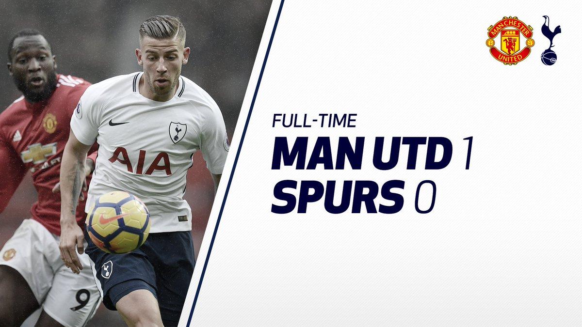 FULL-TIME: Manchester UTD ` Tottenham Hotspur 0
