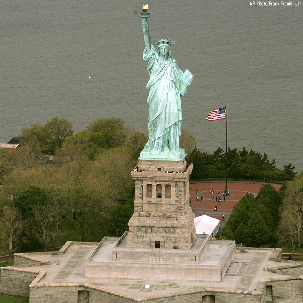 On this day in 1886, President Grover Cleveland dedicated the Statue of Liberty, a gift from France, in New York Harbor.