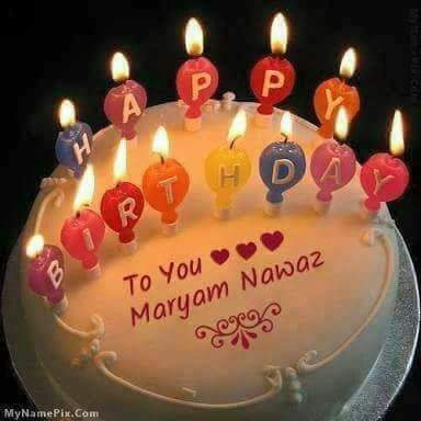 MANY MANY HAPPY RETURNS OF THE DAY HAPPY BIRTHDAY TO YOU MY DEAR SWEET SISTER LEADER MADAM MARYAM NAWAZ SHARIF