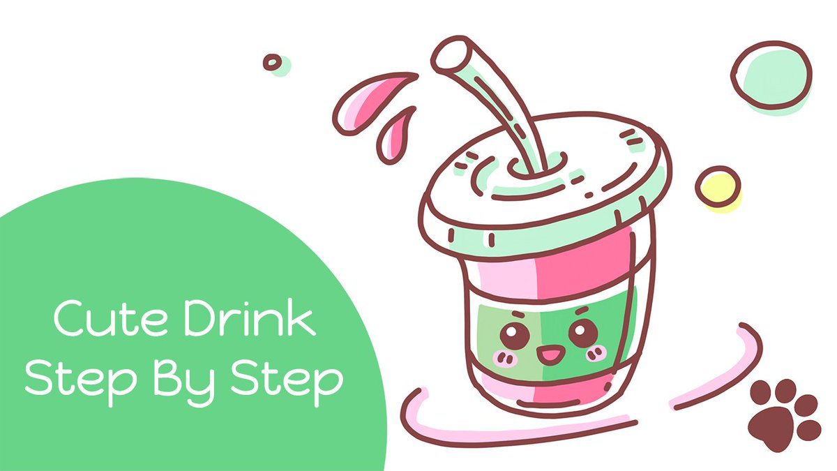 Letsdrawmeow On Twitter How To Draw A Cute Drink Starbucks