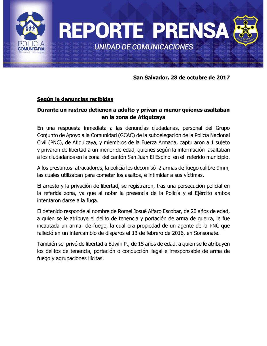 PNC El Salvador on Twitter: \