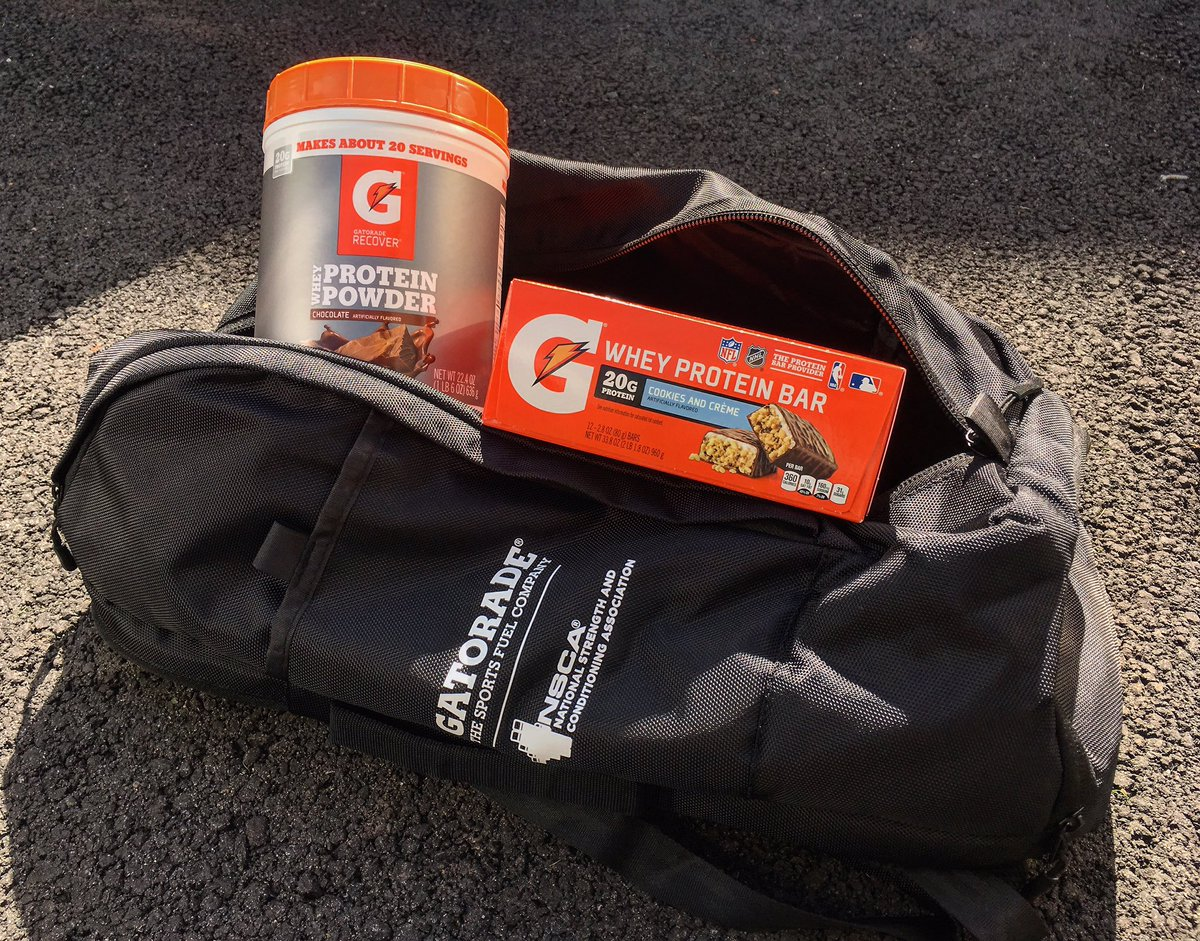 Shout out to @NSCA and @Gatorade for the swag! Can never