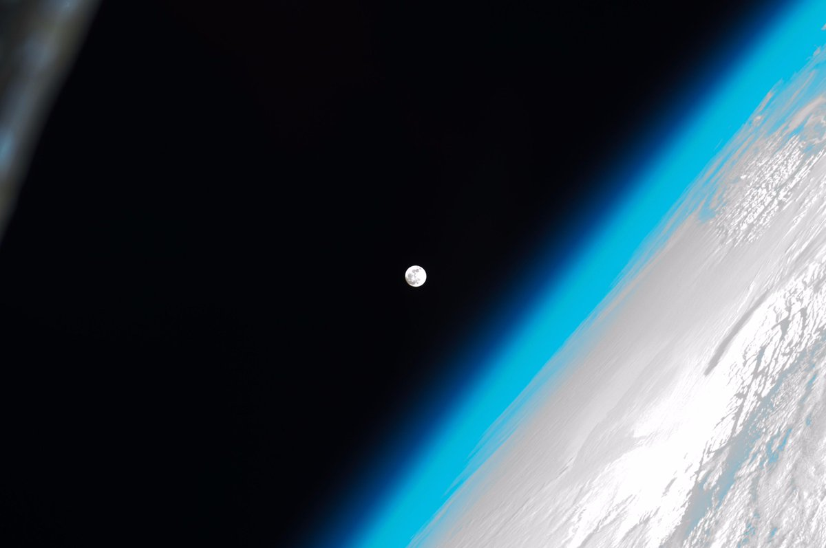 It's Int'l #ObserveTheMoon night! Here's a photo of the Moon from the space station. https://t.co/k9ITrdjR13