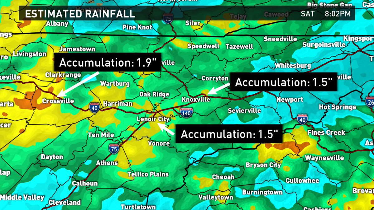 Wbir Weather On Twitter Rainfall Totals Are Around 1 2 Inches In