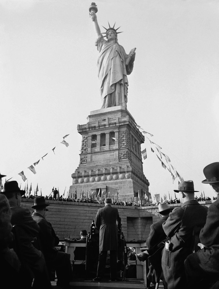 On This Day. 1886: Grover Cleveland dedicated the Statue of Liberty in New York Harbor - a gift from America's oldest ally, France