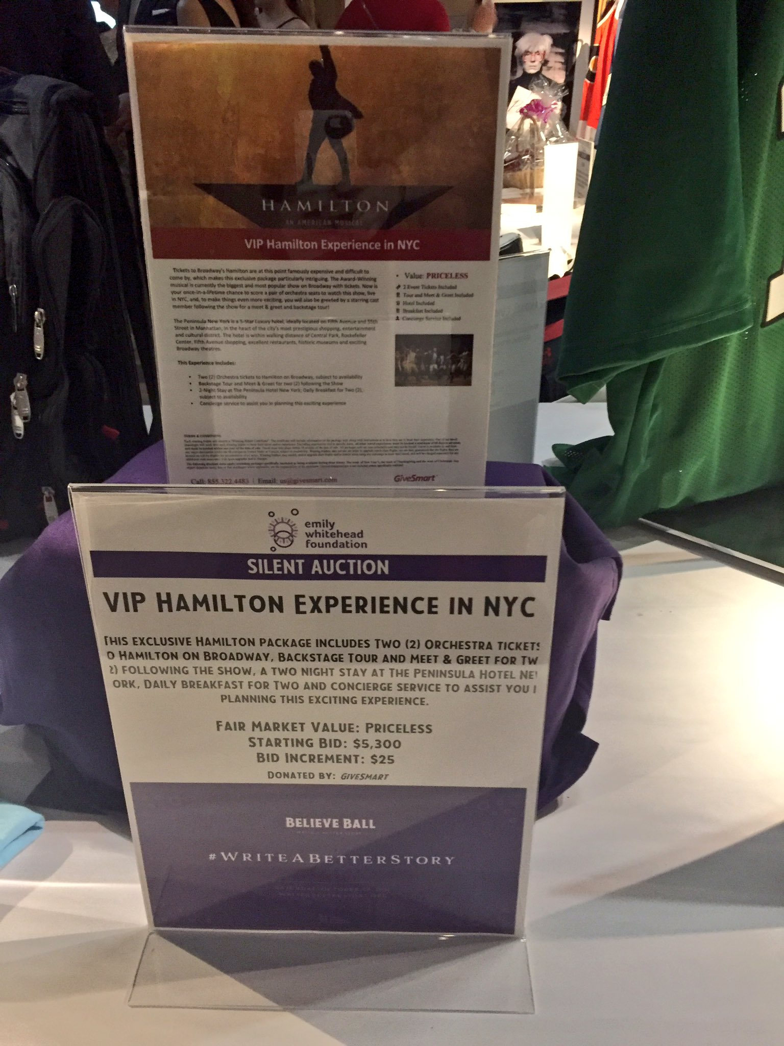 Emily whitehead fdn on twitter help us writeabetterstory enter emily whitehead fdn on twitter help us writeabetterstory enter for the chance to win a vip hamiltonmusical experience in the silent auction at m4hsunfo