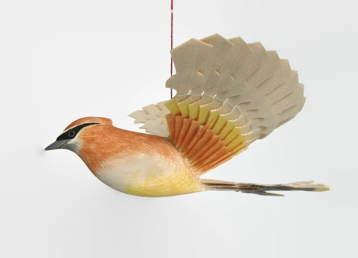 Carved Wood Fan Bird Carving Cedar Waxwing Woodland Mobile  http:// etsy.me/2o9ESv4  &nbsp;   via @Etsy #Retweettrain #addthis #like2 #Shoutouts #RT<br>http://pic.twitter.com/1gLad9r6ZN