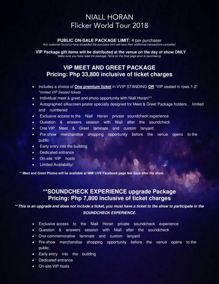 Rhiza Pascua On Twitter Here Is The Meet And Greet Package For