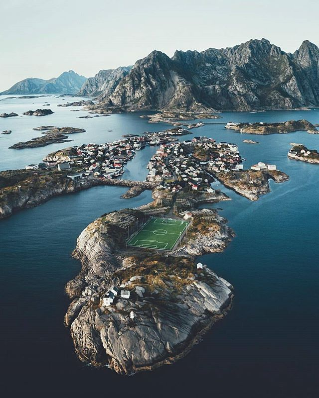Epic soccer field location.  Image by @Lennart #thednalife @thednalife Via: The DNA Life https://t.co/4WR0opRjPW https://t.co/McBr5fnyoB 1