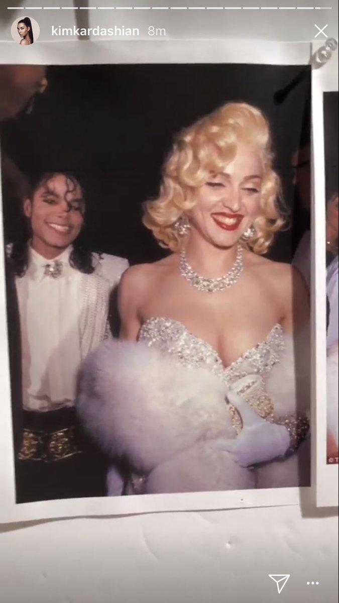 えええ!!KardashianちのKimさんが、Cherに続き歌姫特集で次はMadonnaのこの仮装をするみたい!!楽しみ!!そしてMichael役は誰がやるのかな!?
