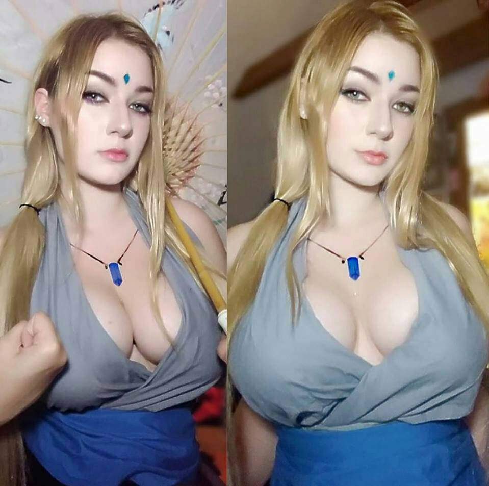Cum dripping from under her dress