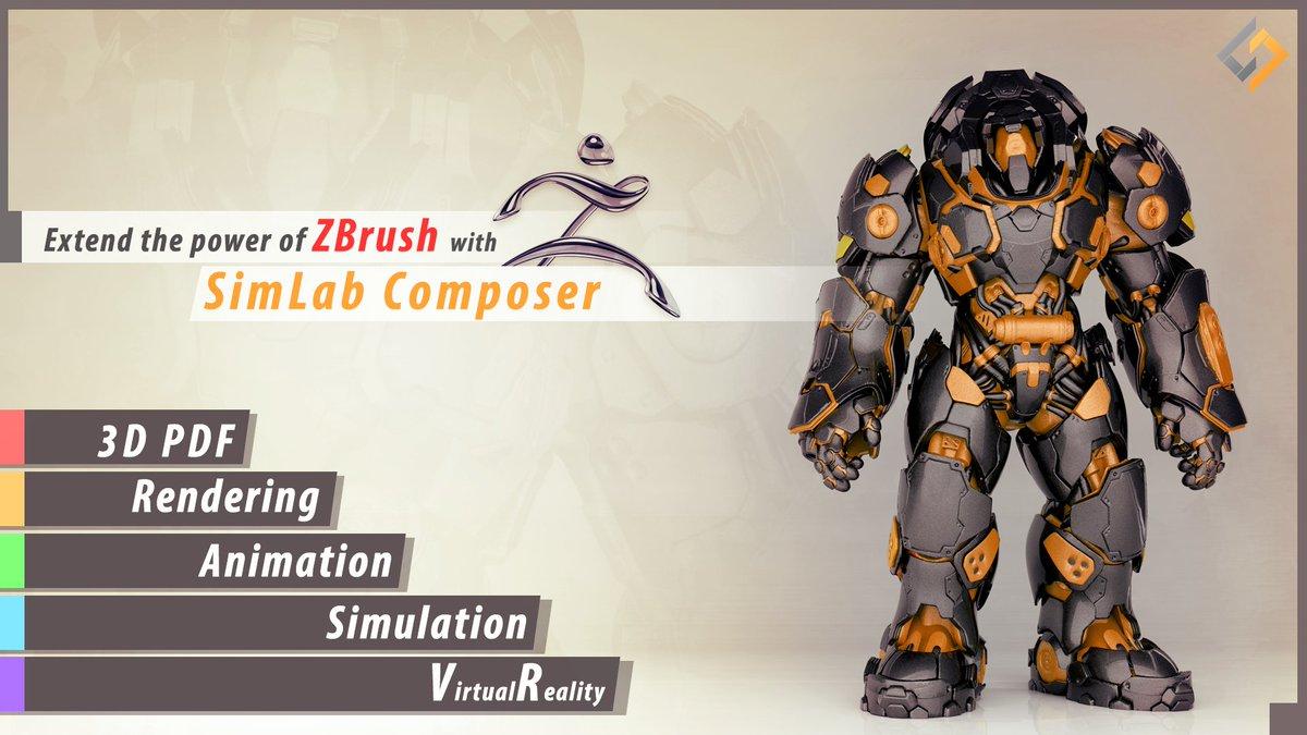 برنامج تقني لإنشاء الصفحات والصور بتقنية 3D للمهندسين - SimLab Composer 8.2