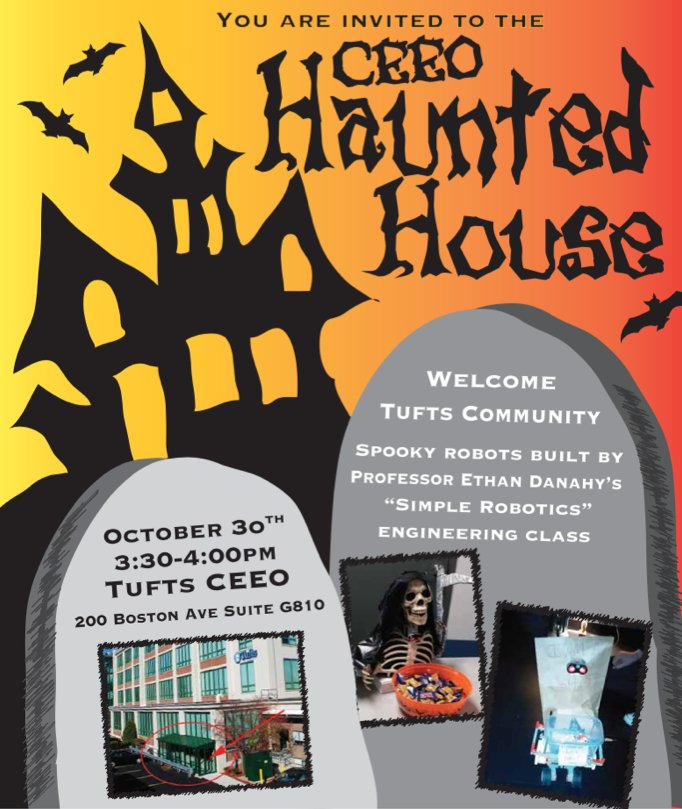 Tufts University On Twitter Haunted House With Spooky Robots