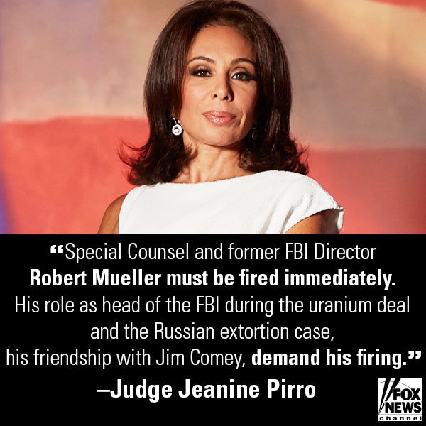 .@JudgeJeanine: After Russian Dossier Funding, Time to 'Lock Her Up' https://t.co/ranfK3xl0V https://t.co/Wim5RcPL8k