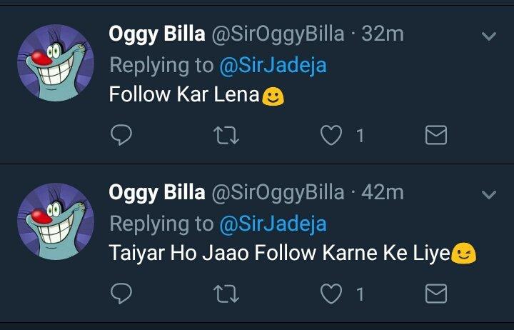 RT @SirJadeja: Bhai @SirOggyBilla, Followback Chahiye? Aao Kabhi Haveli Pe. 😡😒😡💃😂🤗🙏  #INDvNZ #INDvsNZ https://t.co/nDnwQfZsvB