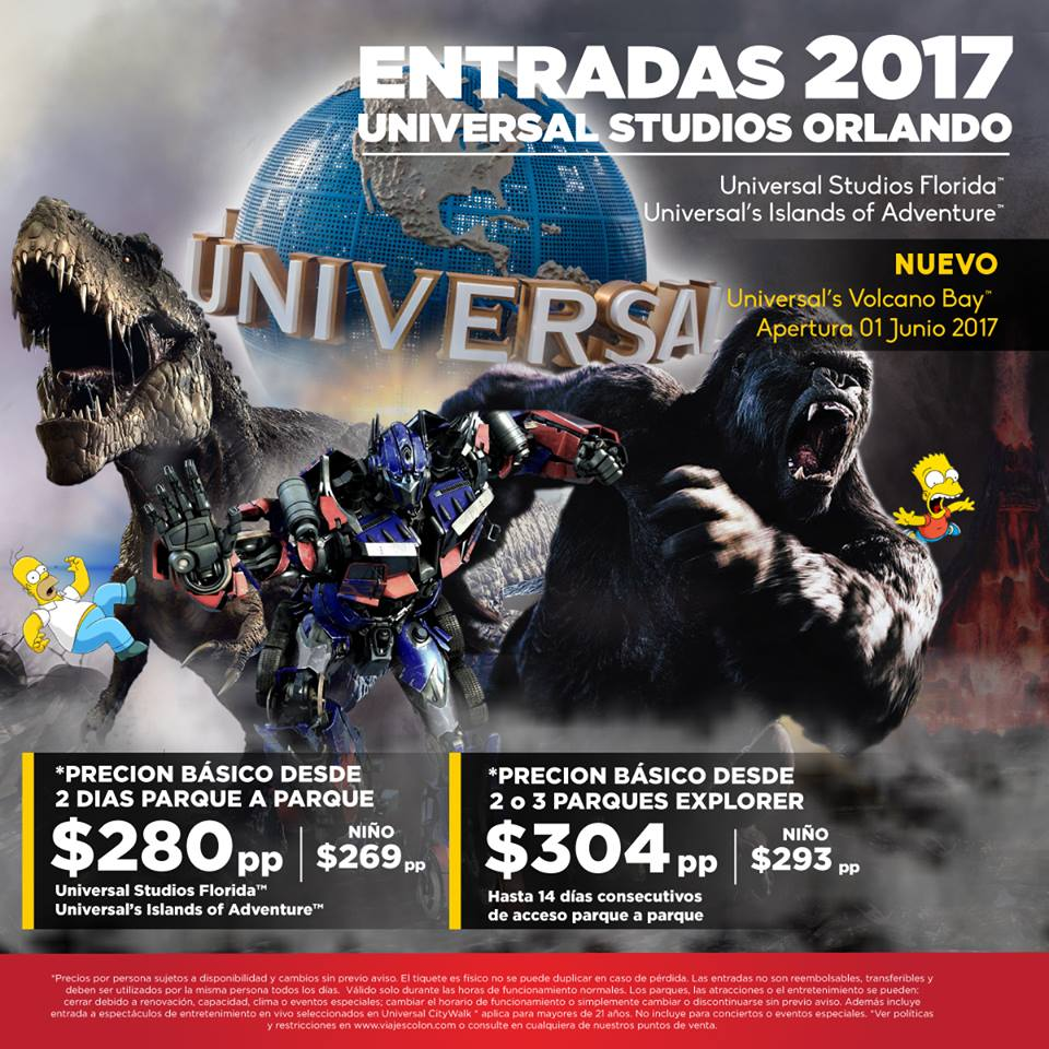 https://t.co/UCs4htWRjI Viva la magia en los parques de Universal Orlando Resort ™ . Entradas desde $280*p.p.  reservas@viajescolon.com https://t.co/f3PgnpLuDT
