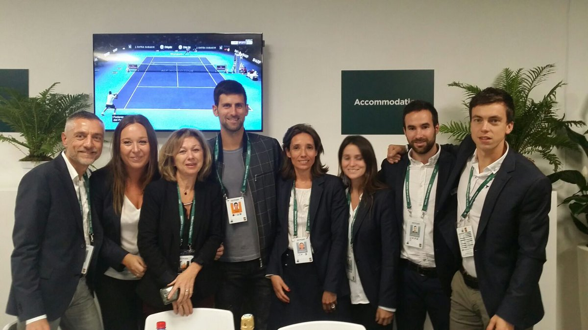 Stopped by to say hello to the amazing @RolexPMasters crew! 👏🏼😁 Great to see u guys!!