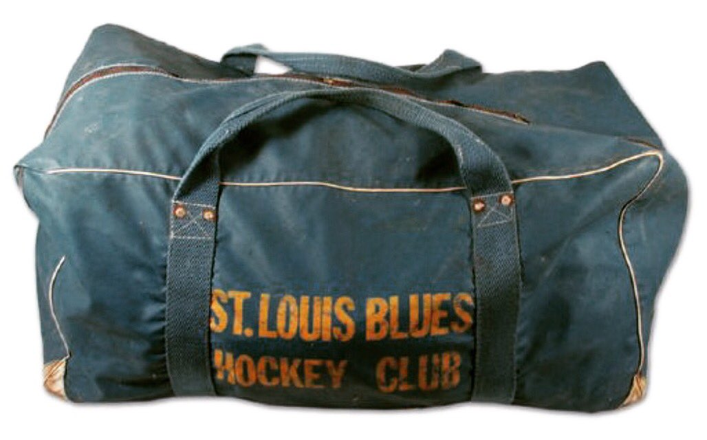 Stlbluesmemorabilia On Twitter 1960s Equipment Bag Stlblues Blueshockey Nhl Hockey Memorabilia Vintage Stlouis Blues