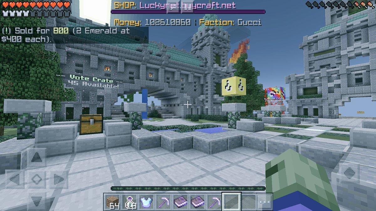 lucky block server ip mcpe