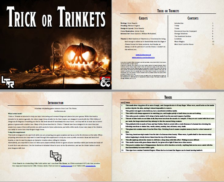 Trick or Trinkets preview