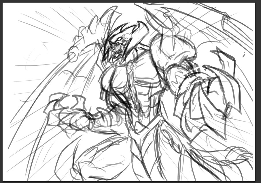 a78d565424 #Sletch Working on a new Yu Gi Oh! based commission #Raviel  #WIPpic.twitter.com/YZGUFKJnvC