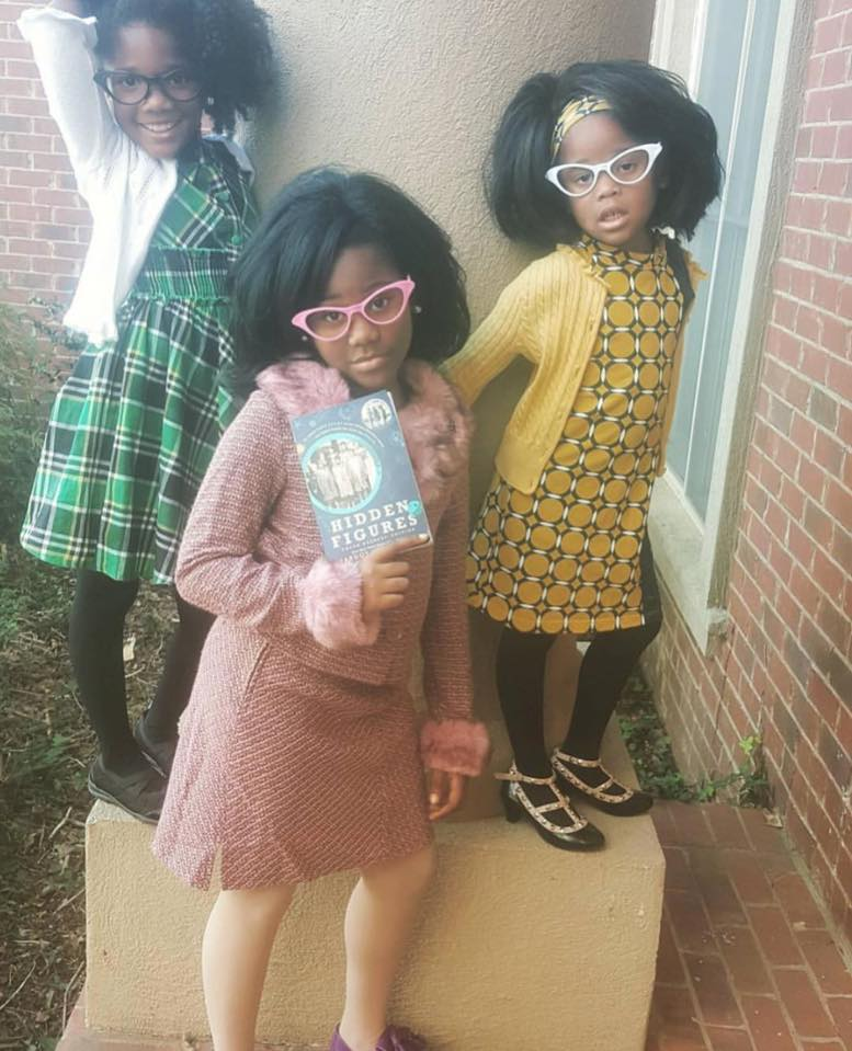 These three girls dressed up as the women portrayed in 'Hidden Figures' are winners!